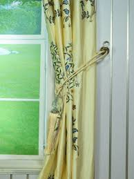 Yellow Faux Silk Curtains Franklin Beige Blue Embroidered Bird Tree Eyelet Faux Silk