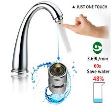 one touch kitchen faucet touch faucet aerator water valve water saving one touch
