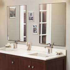 framed bathroom mirrors brushed nickel 24 fortune contemporary metal framed bathroom mirror in brushed nicke