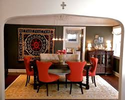 Red Dining Chair Cushioned Dining Room Chairs Cushioned Dining Room Chairs