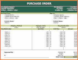 Po Template Excel Purchase Order Template Excel Purchase Order Template Jpg Sales