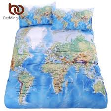 bedding outlet stores beddingoutlet world map bedding set vivid printed blue bed cover