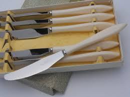 soho pattern vintage boxed steak knives thomas cork sheffield
