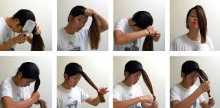 cutting hair upside down a diy layered haircut how to cut your hair at home recess