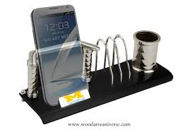 Contemporary Desk Organizers Desk Organizer With Cell Phone Holder Waubkc497 Wood Arts