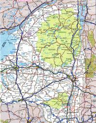 map of roads road map new york major tourist attractions maps