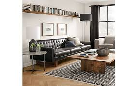 Room And Board Leather Sofa Wells Sofa In Lecco Chocolate Leather Modern Living Room
