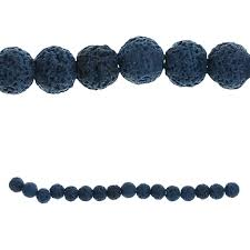 shop for the bead gallery lava stone beads blue at michaels