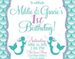 on sale mermaid birthday invitation mermaid party invite