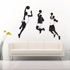 popular stadium wall murals buy cheap stadium wall murals lots basketball players sports wall sticker quote vinyl for kids boys room stadium art mural home decoration