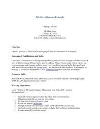 Clerical Resume Examples Legal File Clerk Resume Sales Lewesmr Inside Corporate And