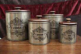 metal kitchen canister sets kitchen outstanding rustic kitchen canister set marvellous