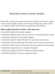 writing resumes samples top8policywriterresumesamples 150529092120 lva1 app6891 thumbnail 4 jpg cb 1432891820