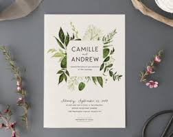 wedding invitations etsy woodland watercolor wedding invitation setprintable forest