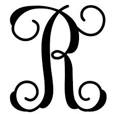 monogram letter custom decor vine monogram letter r initial flagsrus org