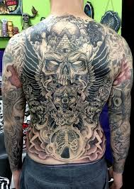 wolf tattoo full back skull and wolf head back body full back