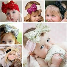 gold headbands 2018 hot retail gold sequin bow headband sequin hair bow turban