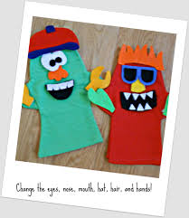 make your own monster puppets printable pattern six sisters u0027 stuff