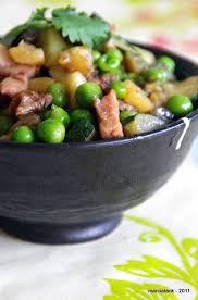 comment cuisiner les petits pois poêlée gourmande de petits pois aux lardons de poulet et à la