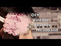 vintage headbands diy feather headband vintage headband with russian netting