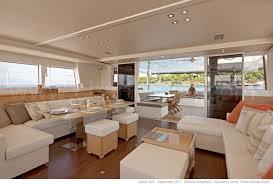 The Living Room Salon Luxurious Lagoon 620 Catamaran Rental Balearic Islands Spain
