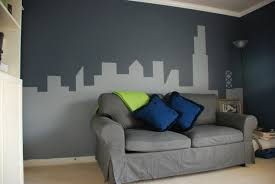 art monochrome painting wall murals abstract city scape for your