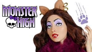 Halloween Costume Monster High by Clawdeen Wolf Monster High Doll Makeup Tutorial For Halloween