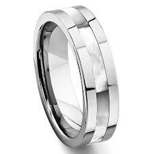 the pearls wedding band tungsten carbide of pearl inlay wedding band ring