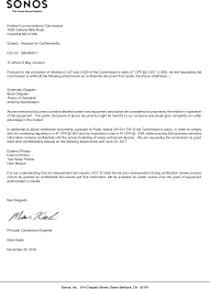 rm011 wireless smart speaker cover letter fcc request for