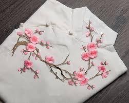 cherry blossom decor pink blossom applique blush cherry blossom decor flower patch