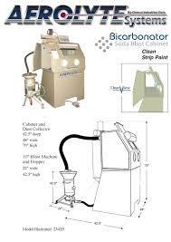 Sandblast Cabinet Parts Bicarbonator Soda Blast Cabinet U2013 Environmental Abrasives Warehouse