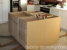 how to build a kitchen island using wall cabinets handy diy kitchen island diy kitchen island