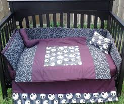 new crib bedding set m w nightmare before fabric