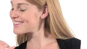 1 4 carat diamond earrings 1 4 ct t w diamond frame stud earrings in 14k white gold