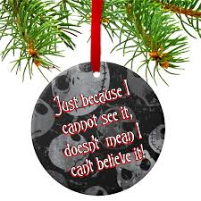 skellington believe ornament gift tag personalized