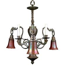 Gas Chandelier Converted 19th Century Gas Chandelier For Sale At 1stdibs