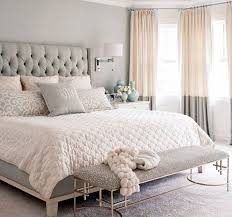 luxury bedroom archives page 4 of 10 luxury home decor bedroom decor ideas transitional style light grey cream and white color palette tufted headboard bench drum wall sconces above side tables and full
