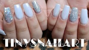 white pearl chrome nails youtube