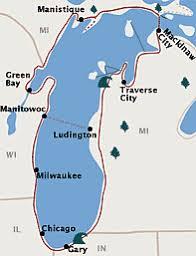 map of michigan lakes great lakes circle tour lake michigan