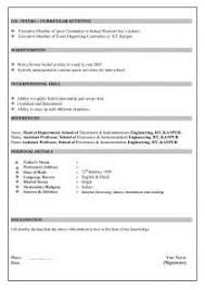 Sample Resume For Fresher Civil Engineer by Sample Resume Format For Civil Engineer Fresher Resume
