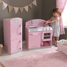 kidkraft pink retro kitchen and refrigerator toys
