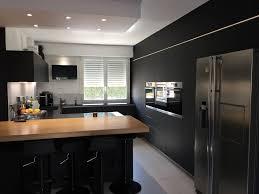cuisine noir mat cuisine noir mat et bois best cuisine noir mat et bois contemporary