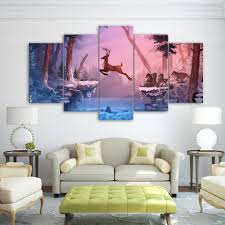 online shop 5 panel decorative nordic deer wall art print painting online shop 5 panel decorative nordic deer wall art print painting no frame canvas animal mural poster decorations for tv sofa background aliexpress