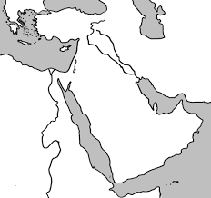 Outline Map Of The World by Physical Outline Map Of The Middle East