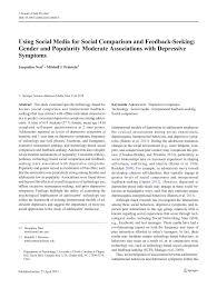 Seeking Que Significa Using Social Media For Social Comparison And Feedback Seeking
