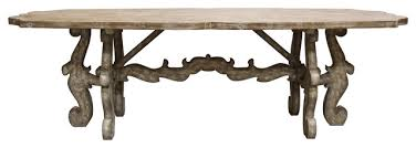 french country rustic scroll farmhouse dining table traditional