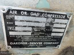 gardner denver ads1012 air compressor item ap9291 sold