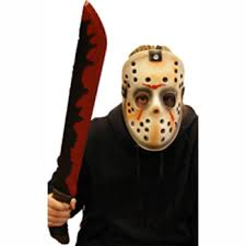 jason costume costume plastic jason mask machete set cappel s