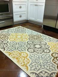 rugs and home decor kitchen rug purchased from overstock com blue grey yellow