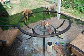 Glass Table Top For Patio Furniture Replacement Glass For Patio Table From Kmart Home Outdoor Decoration